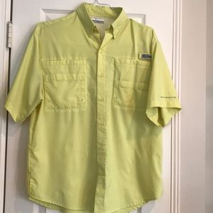 Men's Columbia Shirt - yellow - size Small